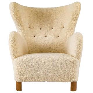 Scandinavian Sheepskin Lounge Chair