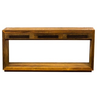 Contemporary Console Table - Eco-Friendly Reclaimed Solid Wood