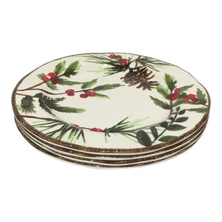 Greenery Melamine Salad Plates - Set of 4