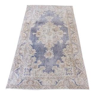 "Vintage Anatolian Oushak Isparta Wool Distressed Handwoven Area Rug - 6'25"" x 3'6"""