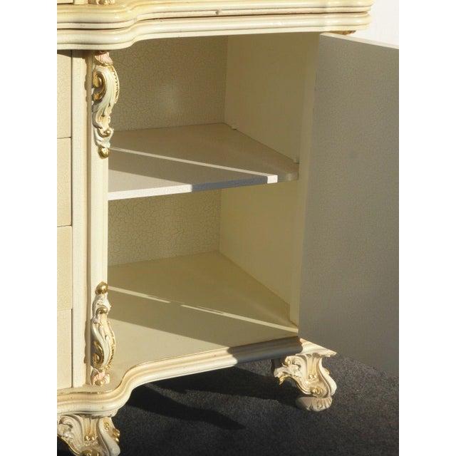 Vintage Off White Ornate Venetian China Cabinet - Image 10 of 11