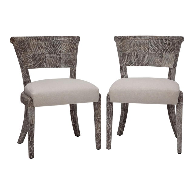 Pair of Fishskin Covered Chairs - Image 1 of 10