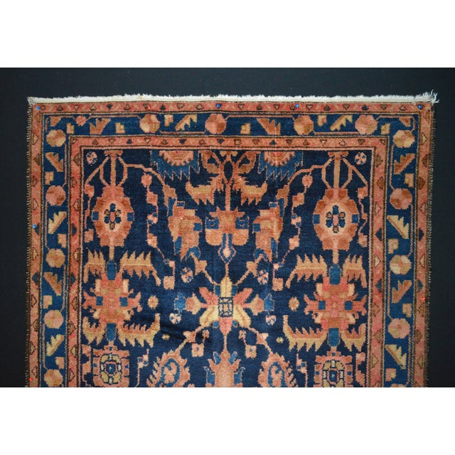 "Navy & Peach Antique Persian Rug - 4'4"" x 6'8"" - Image 5 of 6"