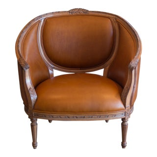 Vintage French Style Leather Chair