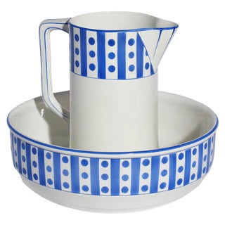 Belgian Porcelain Pitcher & Bowl