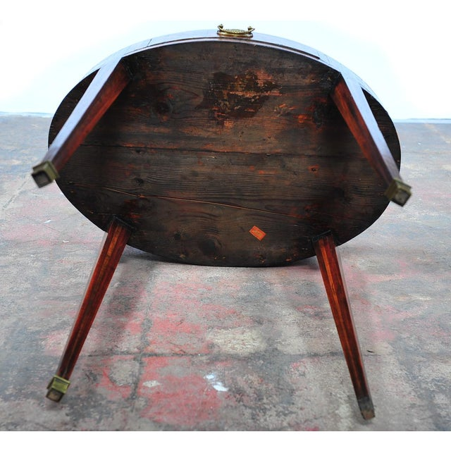 18th Century Oval Revolving Game Table - Image 10 of 10