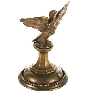 19th-C. Federal Bronze Eagle Finial