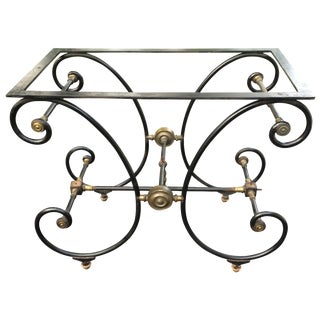 French Iron & Brass Patisserie Table
