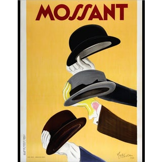 Original Vintage French Mossant Hat Ad Poster