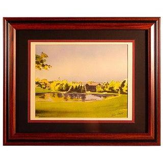 Vintage Park Landscape Framed Print