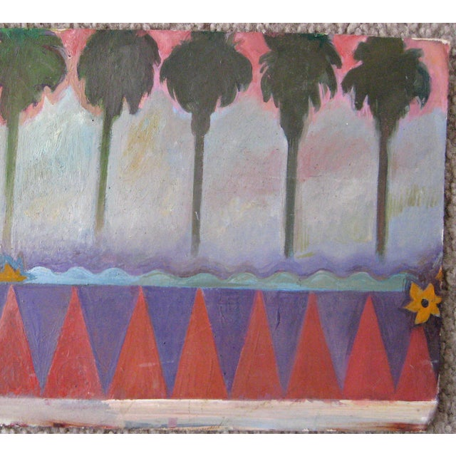 Image of Mid-Century Mural Study Oil Painting