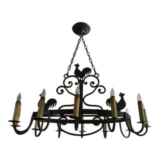 Murray's Iron Works Rooster Chandelier