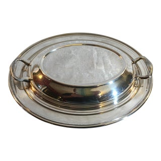Silver Plate Covered Serving Dish