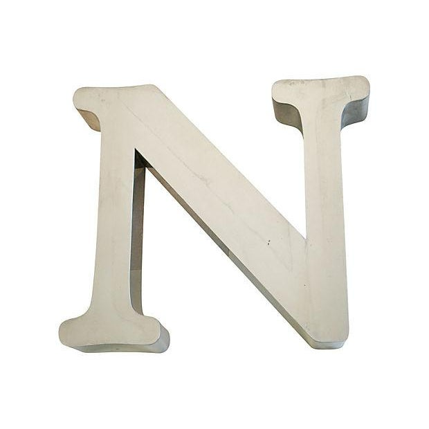1970s Stainless Steel Marquee Letter N - Image 1 of 5