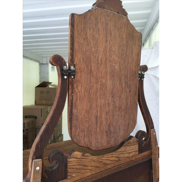 Antique Oak Highboy - Image 7 of 11