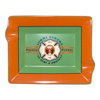 Tommy Bahama Orange & Green Ashtray