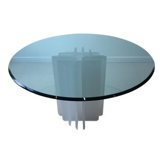 Mid-Century Glass & Lucite Table