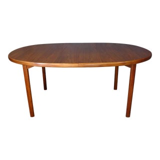 Dux Danish Modern Oval Teak Dining Table