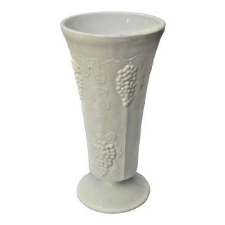 Vintage Colony Harvest Design Milk Glass Vase