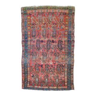 "Bohemian Antique Persian Boteh Rug - 3'11"" x 6'1"""