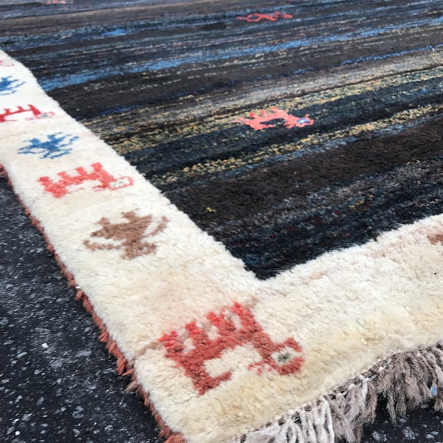 "Vintage Persian Gabe Area Rug- 6'5"" x 4'7"" - Image 9 of 11"