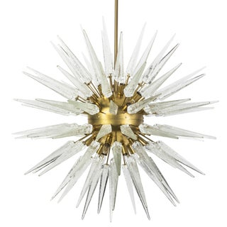 Sputnik Spike Chandelier with Murano Glass