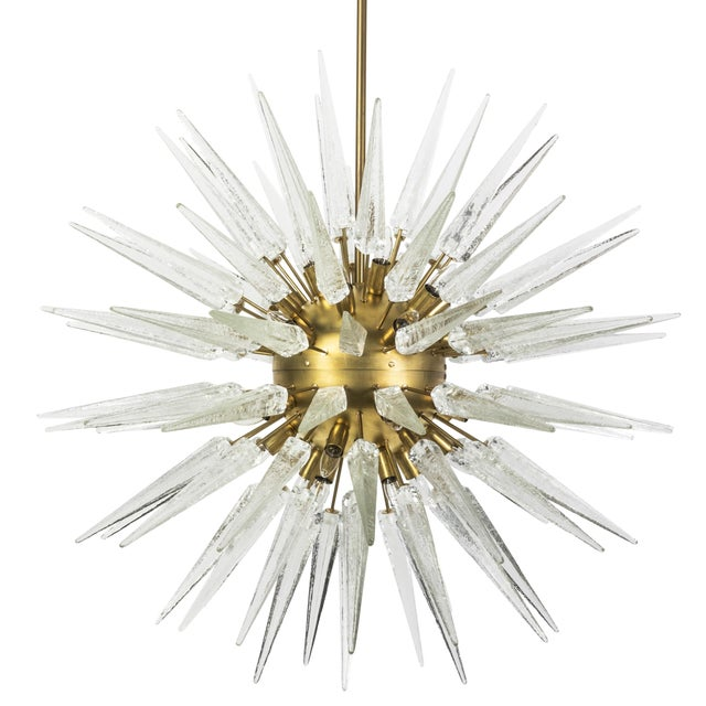 Sputnik Spike Chandelier with Murano Glass - Image 1 of 4