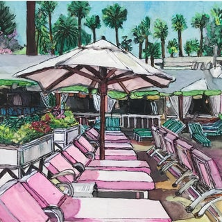 """Beverly Hills Pink"" Watercolor Painting"