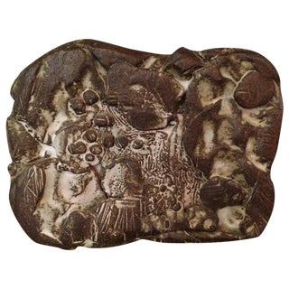 Italian Heavy Ceramic Wall Mounted Sculpture