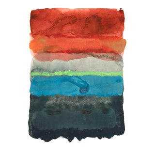 """1974"" Original Abstract Watercolor Painting"