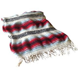 Vintage Boho Striped Blanket Throw