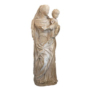 Large 17th Century Carved Limestone Statue