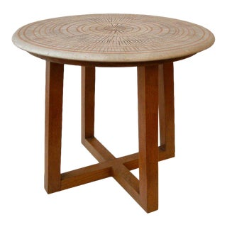 Design Technics Ceramic and Walnut Table