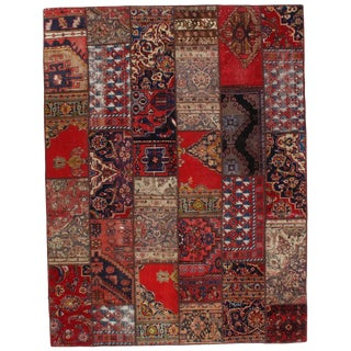 Pasargad N Y Persian Patch-Work Area Rug - 6′1″ × 7′10″