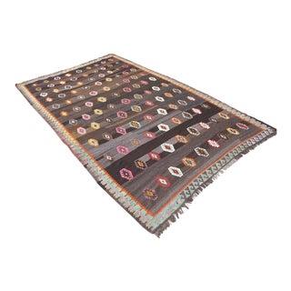 Vintage Turkish Kilim Rug - 6′5″ × 11′