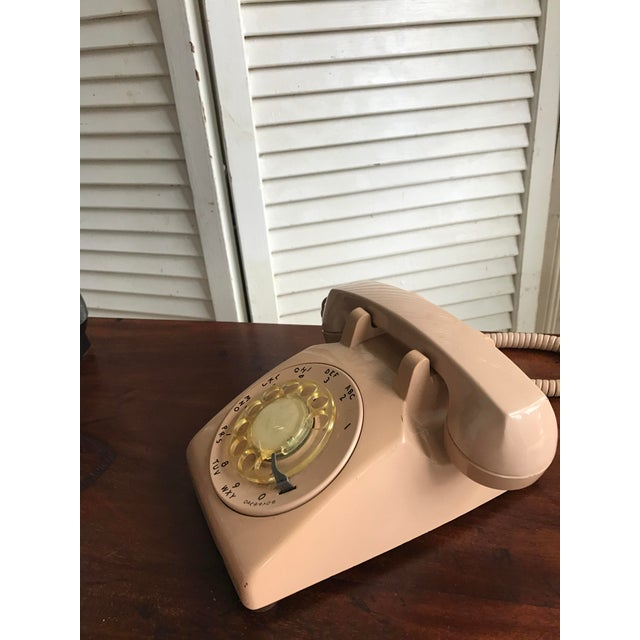 Vintage Mid-Century Modern Rotary Dial Desk Phone - Image 4 of 4