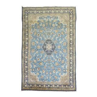 Vintage Persian Blue Kashan Rug - 8'1'' x 13'2''