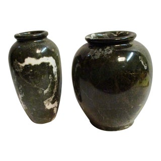 Mid-Century Marble Urns - A Pair