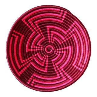 Maroon Geometric Plateau Basket