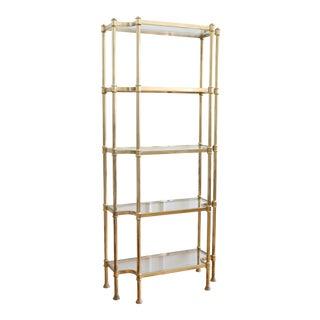 Gold Leaf Etagere Shelf Bookcase