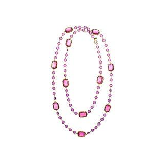 Chanel Vintage Pink Chicklet Necklace