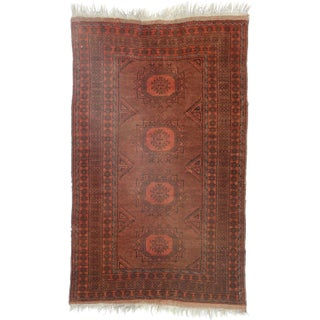 RugsinDallas Afghan Hand Knotted Wool Rug - 3′4″ × 5′4″