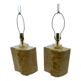 1970 Bauer Lamp Co. Marble Lamp - A Pair