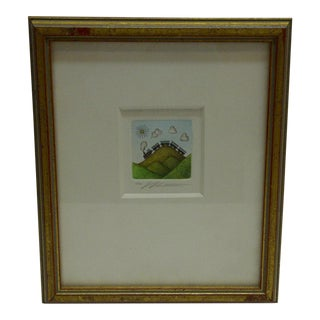 Signed Framed Print Over the Hill by Volker Kuhn