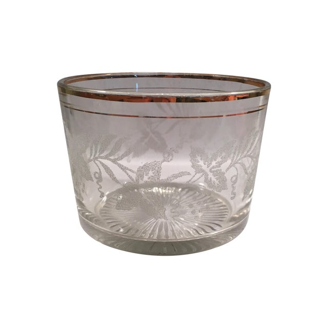 Vintage Grapevine Glass Ice Bucket - Image 1 of 6