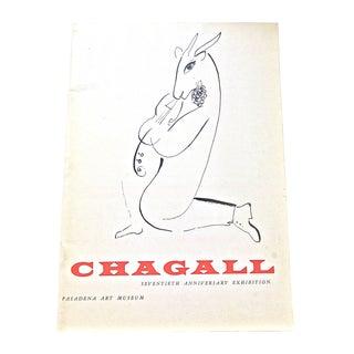 Vintage 1957 Chagall Pasadena Art Museum Catalog