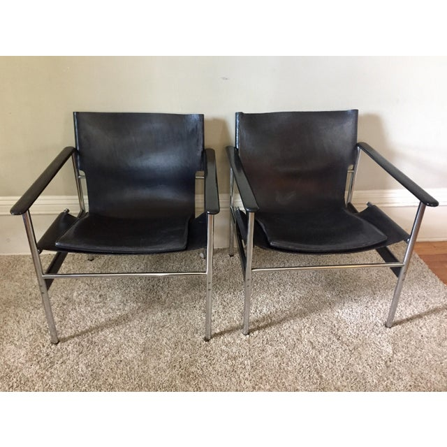 Charles Pollock for Knoll 657 Arm Chairs - A Pair - Image 3 of 11