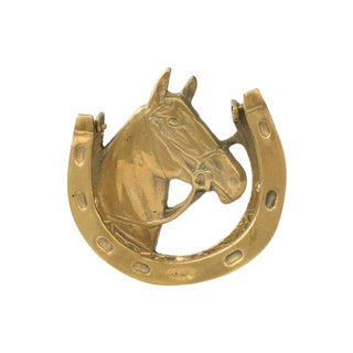 Vintage Brass Horse Door Knocker