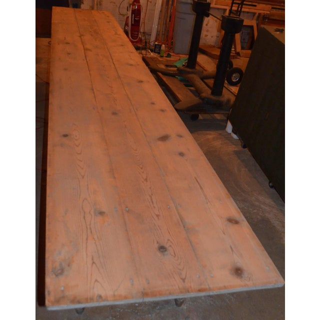 Antique Old Harvest Pine Table - Image 4 of 9