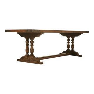 French White Oak Trestle Dining Table